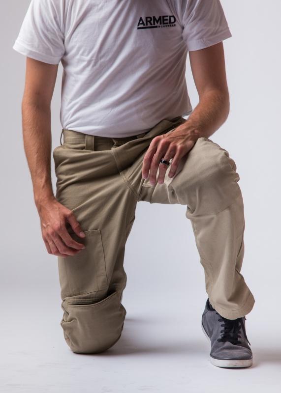 tan work pants w built in knee pads tan work pant armed work wear pants. Black Bedroom Furniture Sets. Home Design Ideas